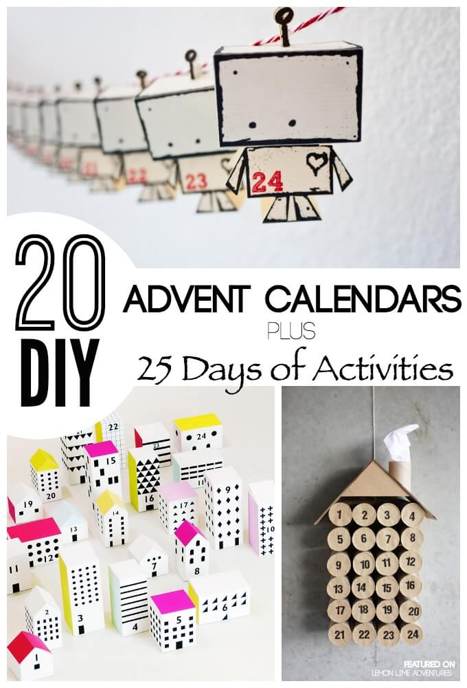 Awesome Diy Advent Calendar Ideas 25 Days Of Ideas
