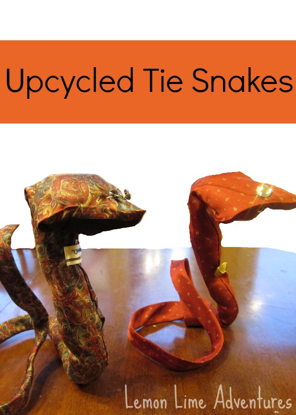Upcycled Tie Snakes