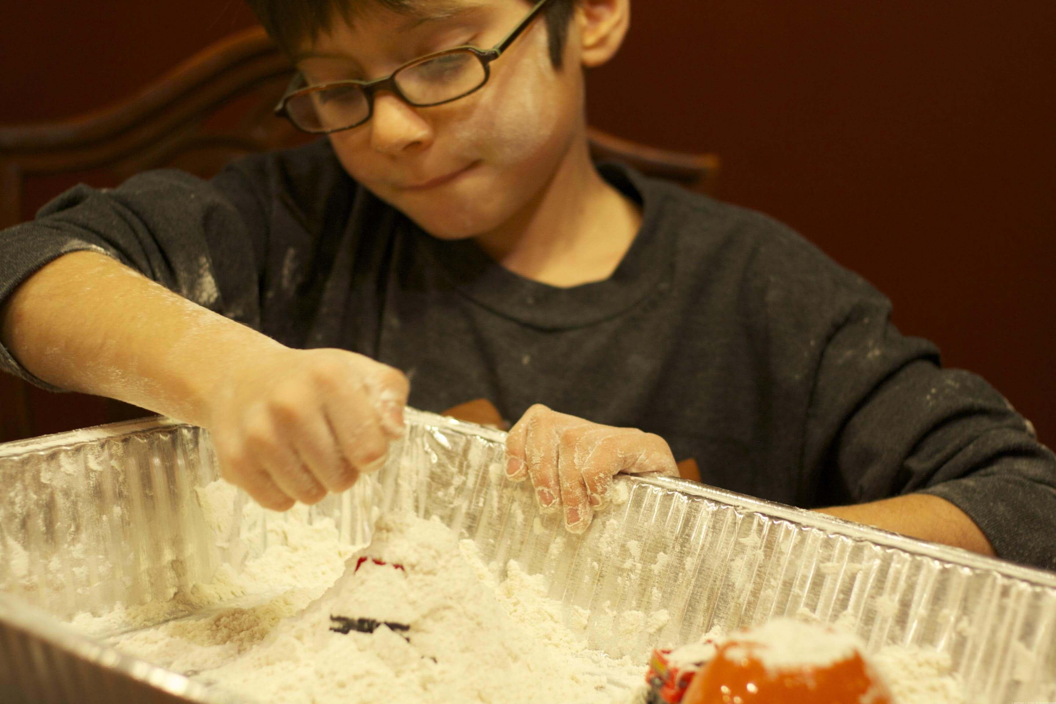 Flour Sensory Play