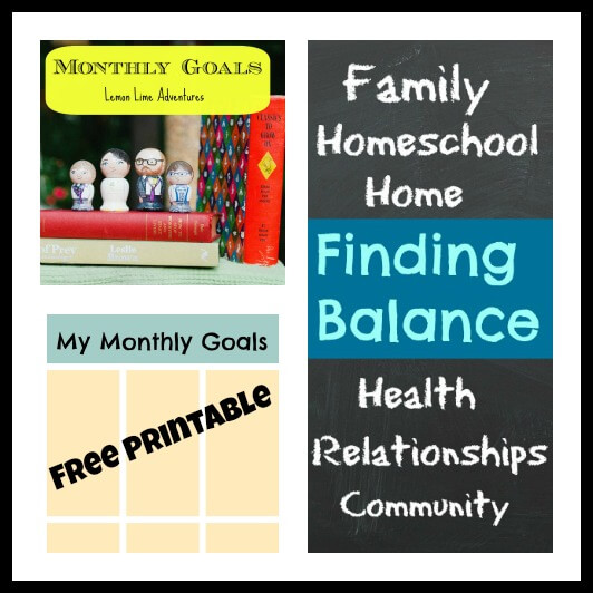 Monthly Goals Finding Balance