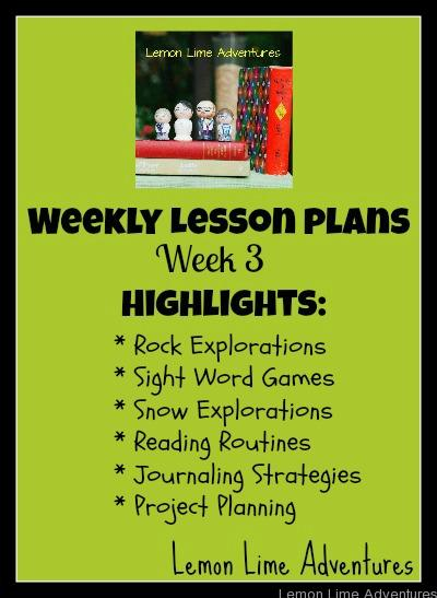 Weekly Homeschool Lesson Plans