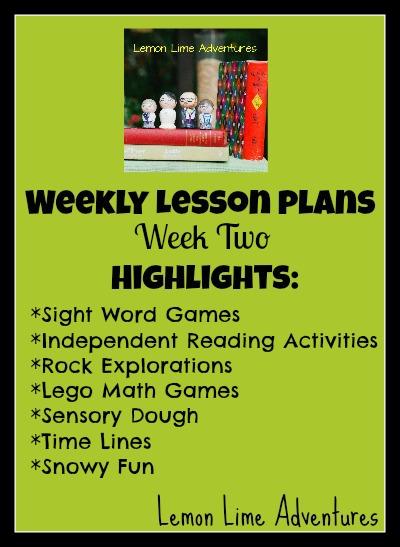 Weekly Lesson Plans- week 2