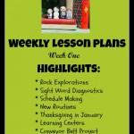 weekly homeschool lesson plan