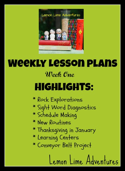 weekly homeschool lesson plan
