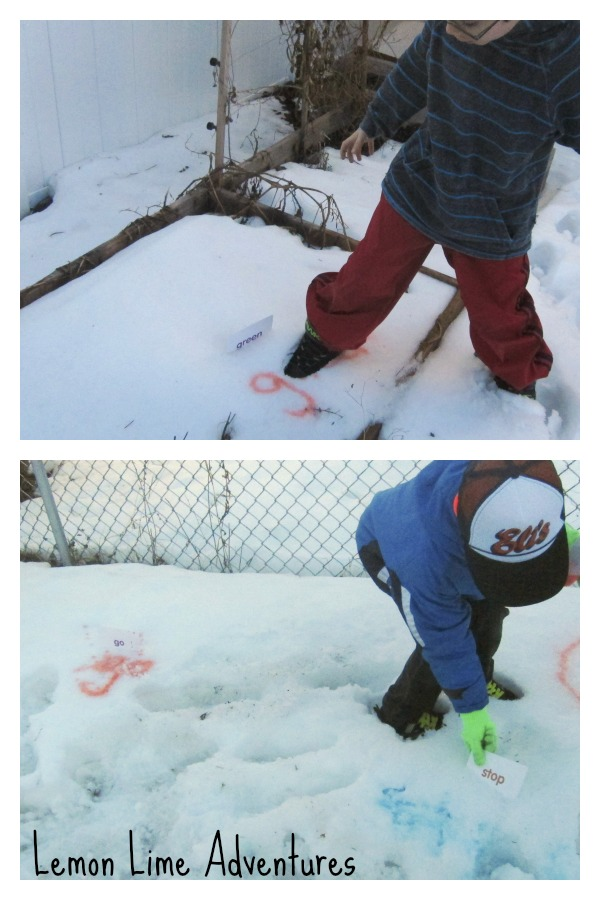 Finding Sight Words in the snow