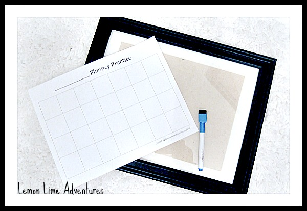 Making Your DIY Fluency Board for Sight Words