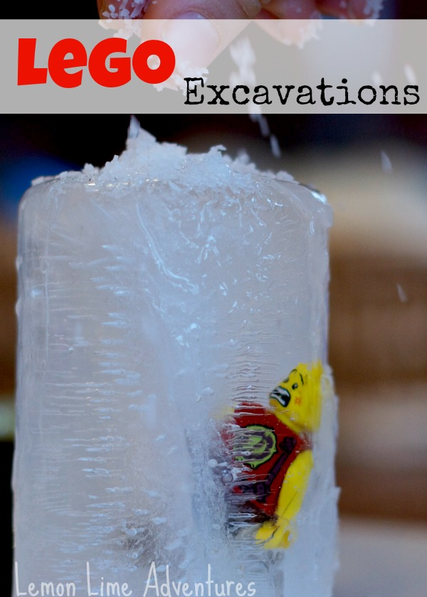 Lego Science Excavation Experiment - 10 Fun LEGO Science Activities