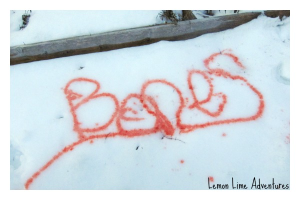 Name Writing in the Snow