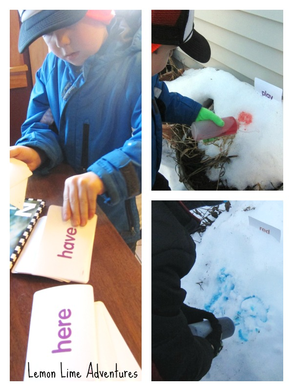 Sight Word Hiding in the Snow