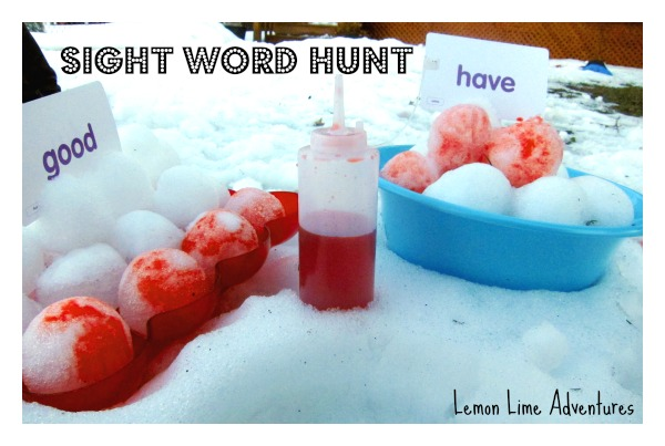 Sight Word Hunt Setup