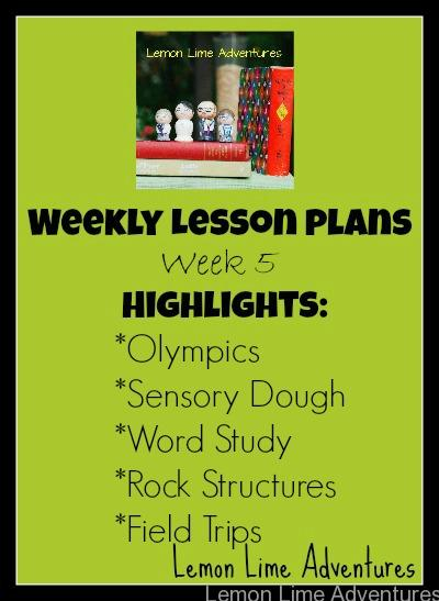 Weekly lesson week 5