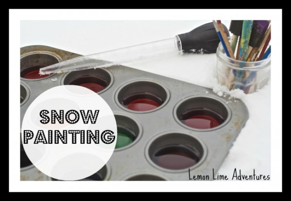 snow painting setup