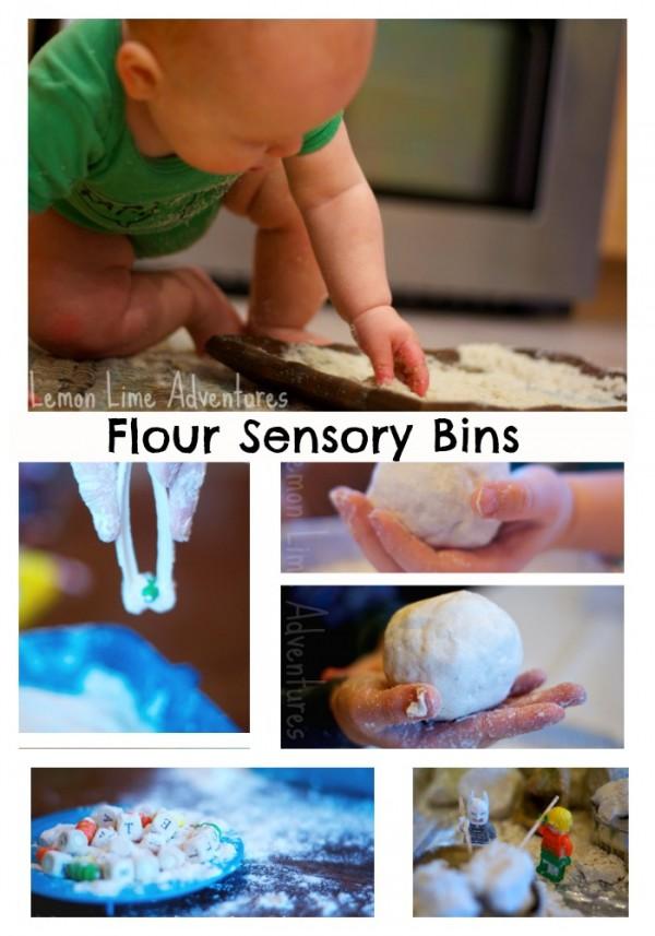 Flour Sensory Bins roundup