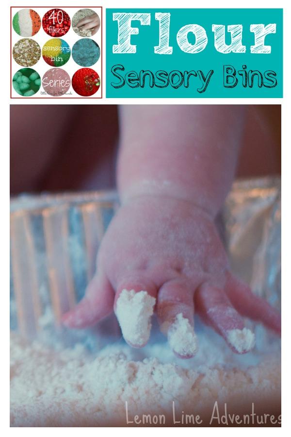 Flour Sensory Bins