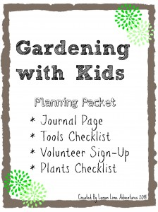 photograph relating to Free Printable Garden Journal named Checklists Printables: Gardening with Little ones