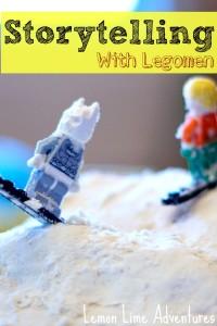 Portable Sensory Bins: Lego Storytelling