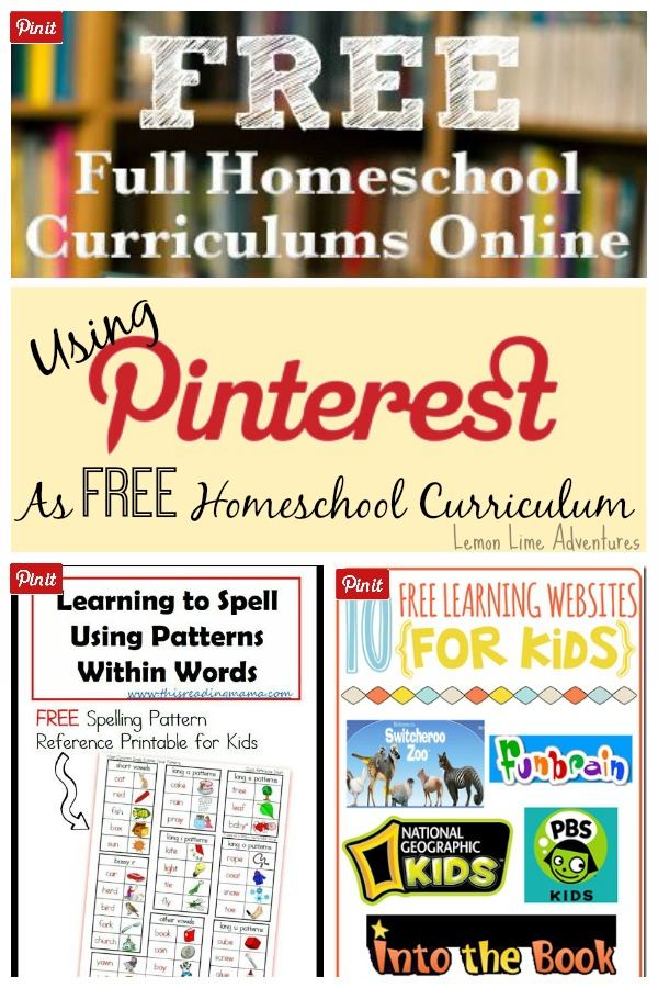 Using Pinterest as Free Homeschool Curriculum