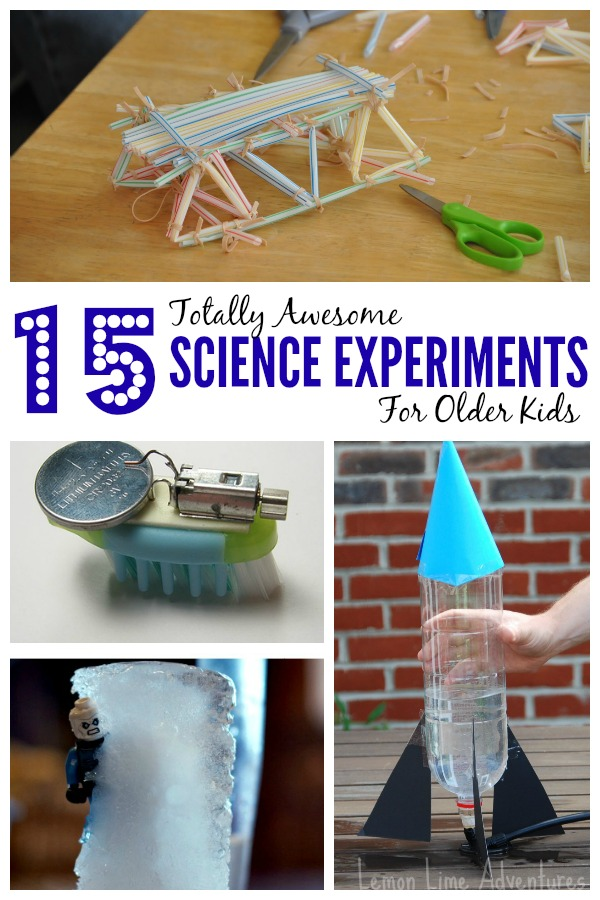 15 Science Experiments for Older Kids