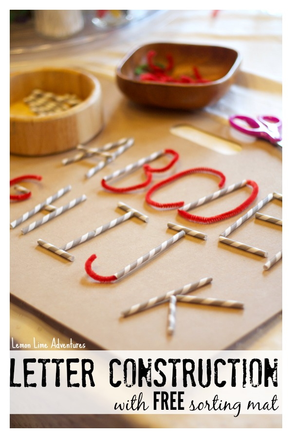 Letter formation with Straws and Pipe Cleaners