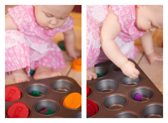 Baby Play Muffin Tin and Plastic Lids
