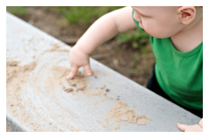 Fine Motor Prewriting in Sand Play