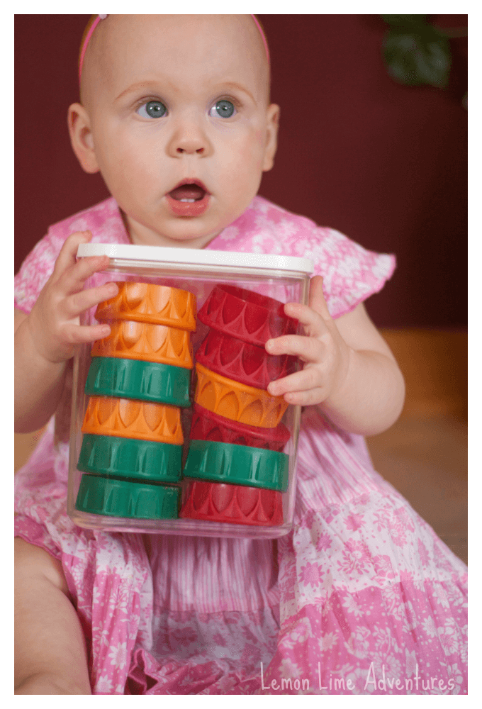Games with Recycled Plastic Lids for Babies