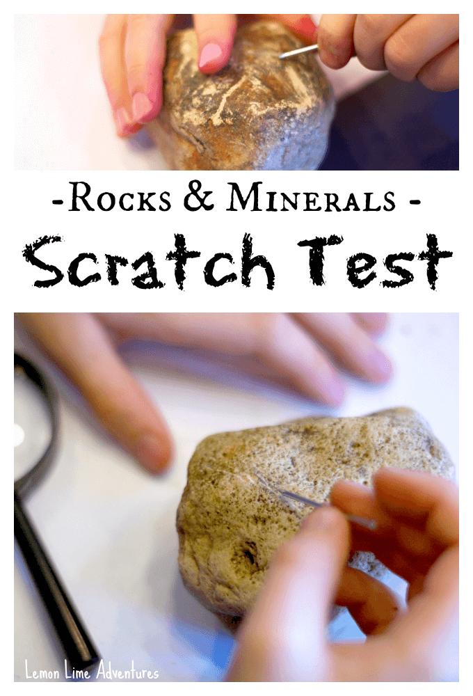 Rocks and minerals Scratch Test