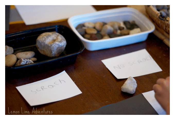 Scratch Test for Rocks