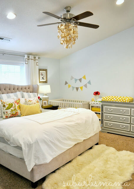 Shared Baby Space| Nursery in the Master Bedroom