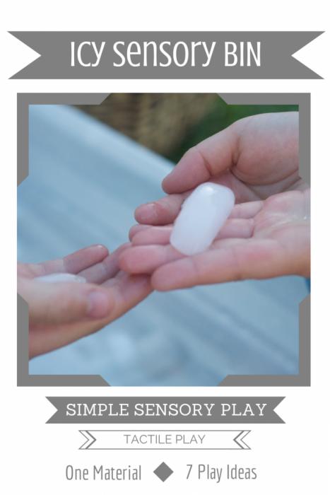 Simple Sensory Play   Icy Sensory Bin