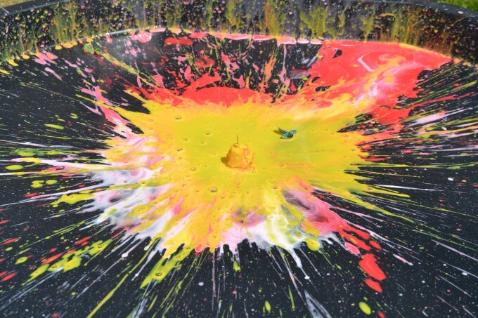 Splatter Paint Fireworks Experiment
