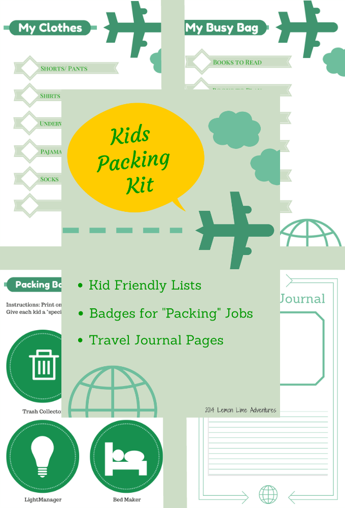 Kids Packing Kit With Lists Printable