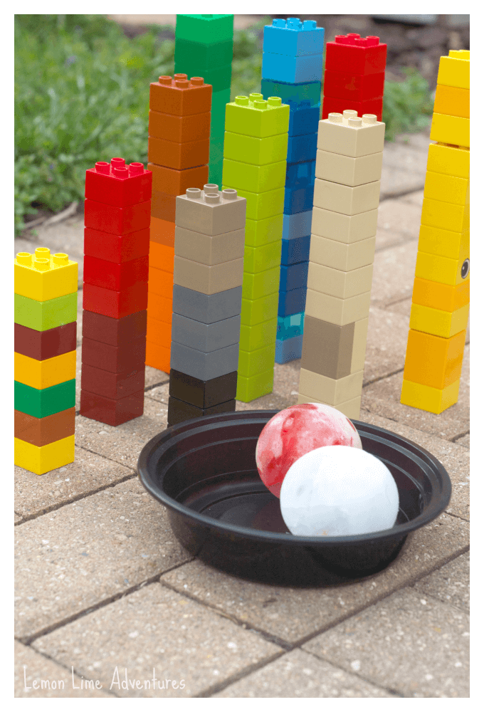 Lego Ice Bowling Setup