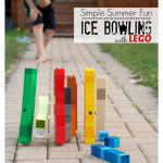Simple Summer Fun Lego Ice Bowling