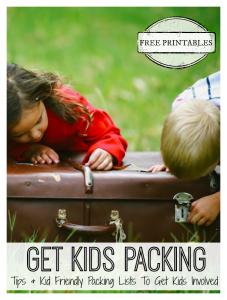 Travel Kit to Motivate & Involve Children {Free Printables}