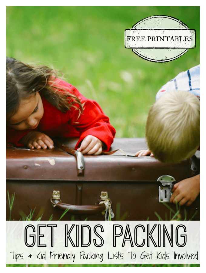 Travel with Kids Packing Lists for Kids