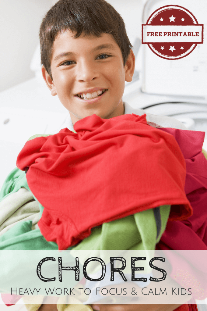 Chores as Heavy Work to Help Calm and Focus Kids