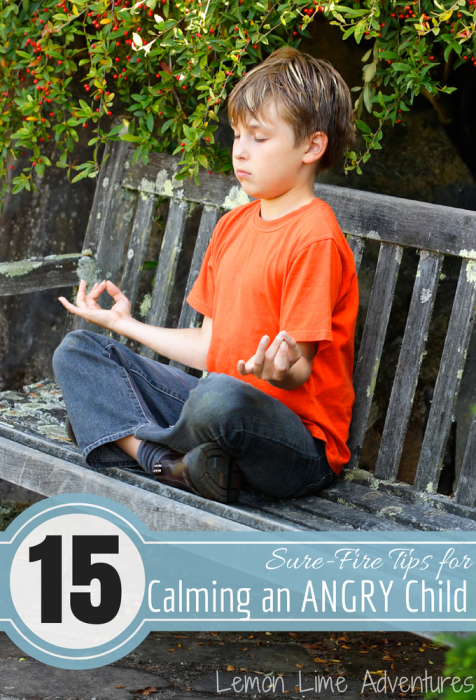 Tips for Calming an Angry Child
