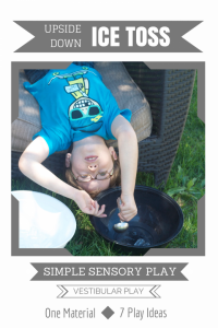 Simple Sensory Play | Upside Down Ice Toss