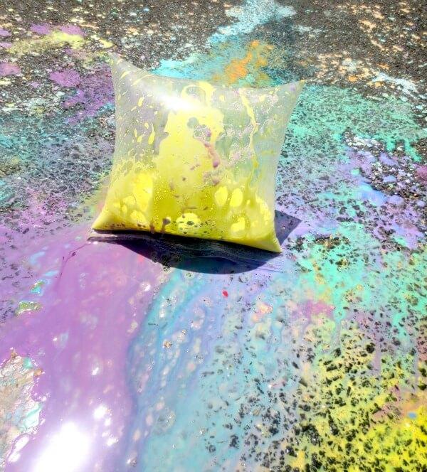 Exploding Chalk Paint Experiment