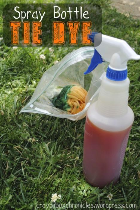 Spray Bottle Tie Dye