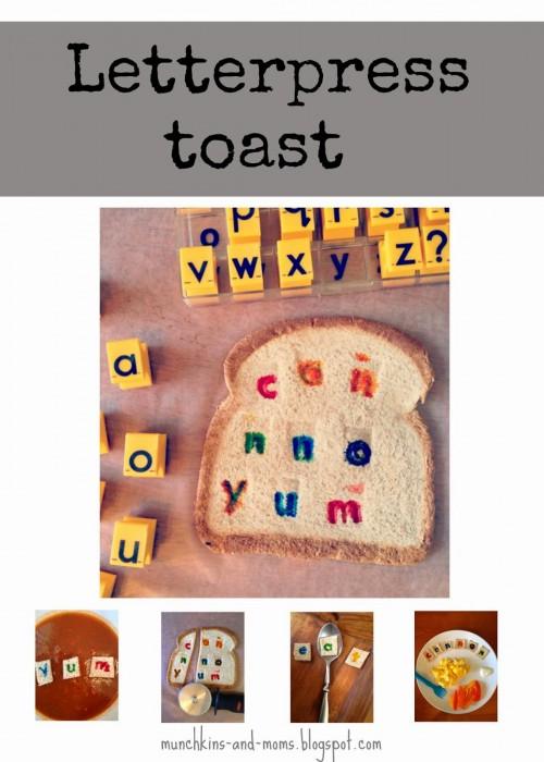 letterpress toast collage