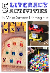 5 Hands On Summer Literacy Activities