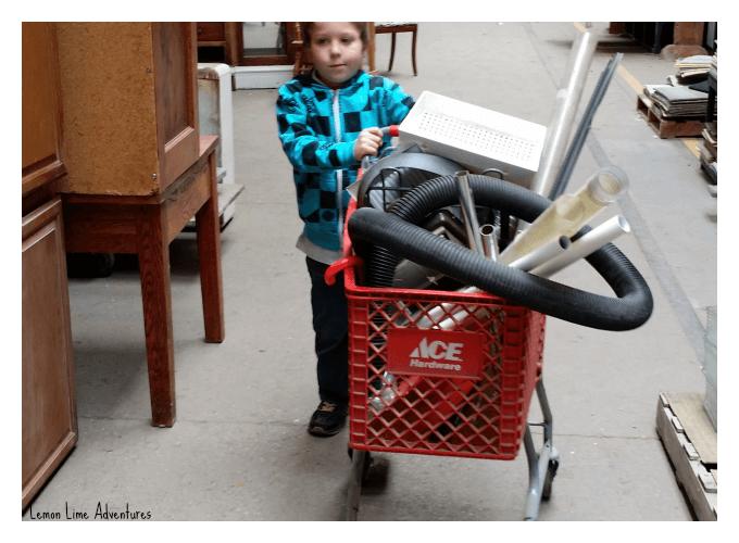 Tinker Cart Full of Materials