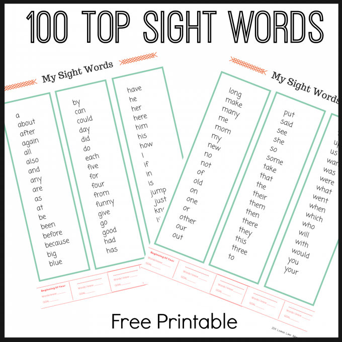 picture about Printable Sight Word titled Supreme Sight Term Lists Free of charge PRINTABLES