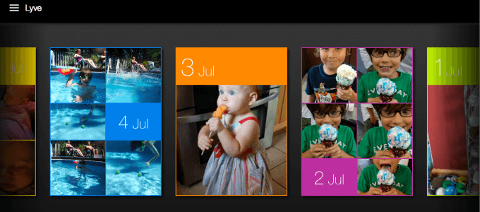 Lyve Home Screen Shot Photo Management