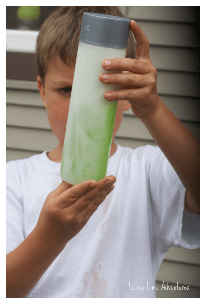 Sensory Bottle with Oil and Soap