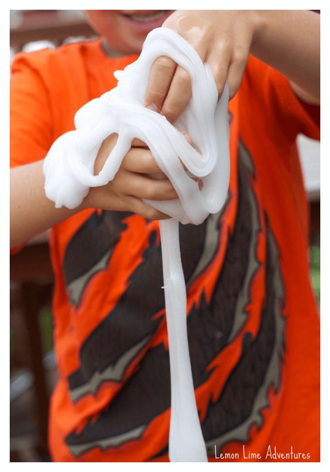 Stretchy Slime Sensory Play