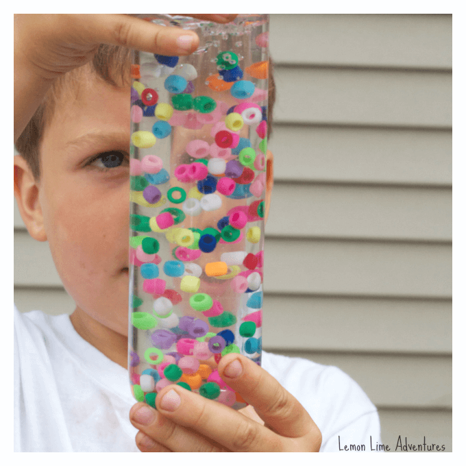 Water and Beads Discovery Bottle