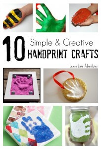 10 Simple Handprint Crafts